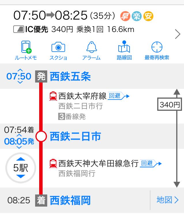 電車 定期 代 西鉄